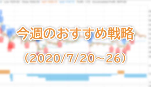 今週のおすすめ戦略(2020/7/20~26)